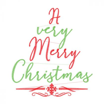 A Very Merry Christmas - Stitch View
