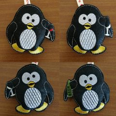 Drunk stuffed penguin - Christmas Embroidery Design