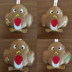 Stuffed Drunk Robins Christmas Embroidery Designs