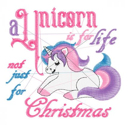 Unicorn is for Life -- Stitch View