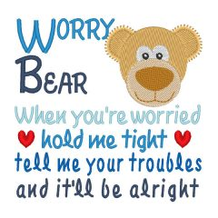 Worry Bear - Real View Blank