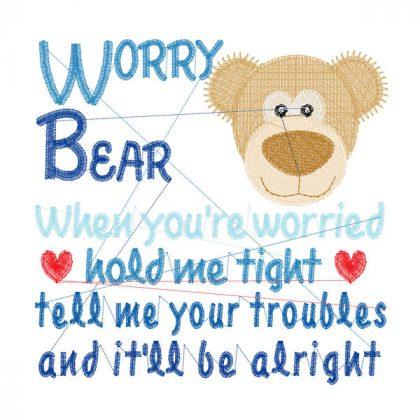 Worry Bear - Stitch View Blank