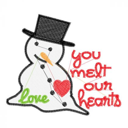 You Melt Our Hearts - Stitch View Blank