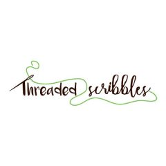 Threaded Scribbles Logo - 600 x 600 px