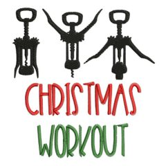 Christmas Workout - Real View | Threaded Scribbles