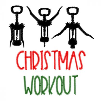 Christmas Workout - Stitch View | Threaded Scribbles