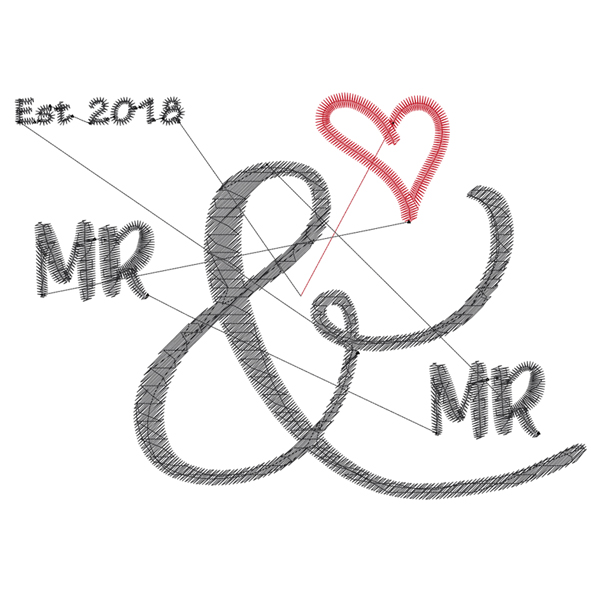 The Design 2 Wedding Embroidery Designs Threaded Scribbles