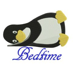 Sleepy Penguin - Machine Embroidery Designs | Threaded Scribbles