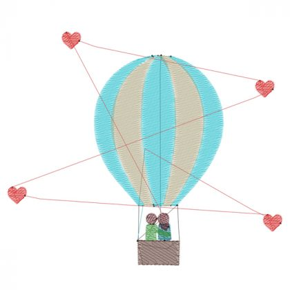 Love is in the air - Stitch View - Threaded Scribbles