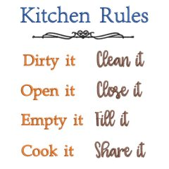 Kitchen Rules - Real View - Threaded Scribbles