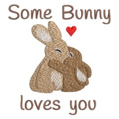 Some Bunny Loves You - Real View - Threaded Scribbles