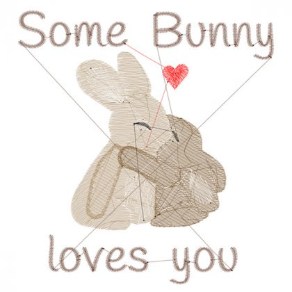 Some Bunny Loves You - Stitch View - Threaded Scribbles