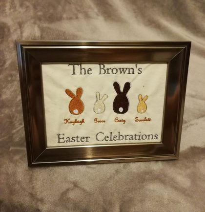 The Bunny Family Embroidery Design | Threaded Scribbles