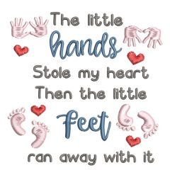 Little hands and feet - Real View - Threaded Scribbles