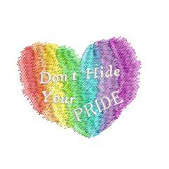 Gay Pride Heart mini - Threaded Scribbles