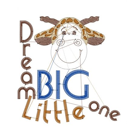 Dream Big Little One Stitch View - Threaded Scribbles