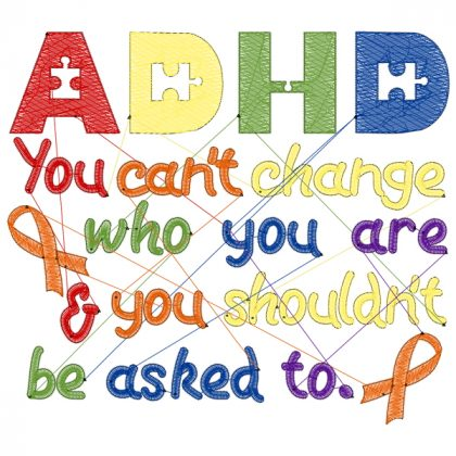 ADHD design Stich View - Threaded Scribbles