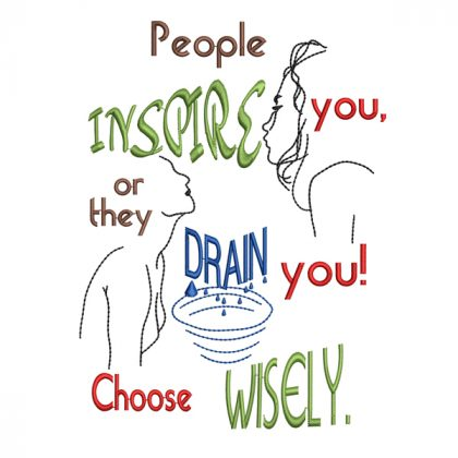 Inspire or Drain Real View - Threaded Scribbles