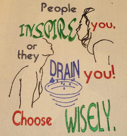 Inspire or Drain Stitch out - Threaded Scribbles