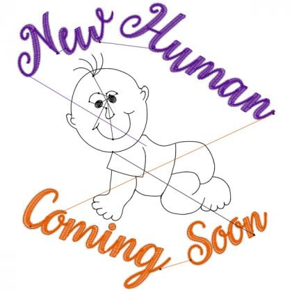 New Human Coming Stitch View - Threaded Scribbles