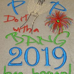 New year 2019 Sew out - Threaded Scribbles