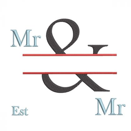 The & Design - Real View Blank Mr & Mr - Threaded Scribbles