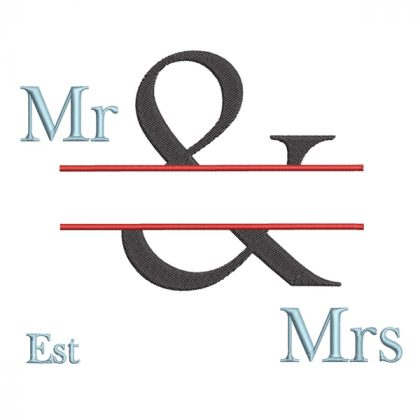 The & Design - Real View Blank Mr & Mrs - Threaded Scribbles