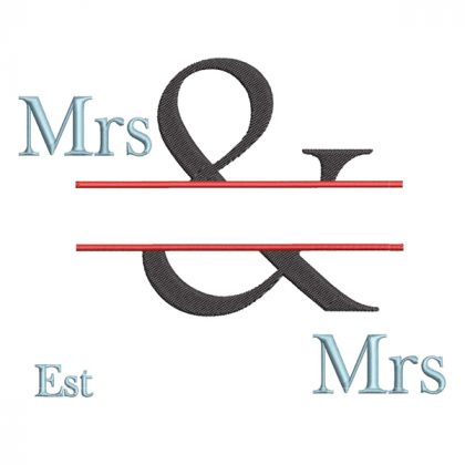 The & Design - Real View Blank Mrs & Mrs - Threaded Scribbles