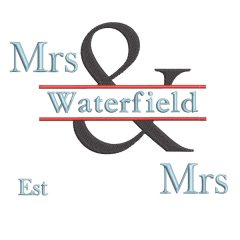 The & Design - Real View Filled Mrs & Mrs - Threaded Scribbles
