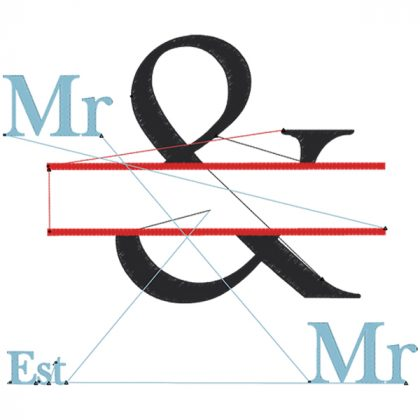 The & Design Style 3 Stitch View Mr & Mr - Threaded Scribbles