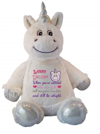 Unicorn Flossie with Design - Threaded Scribbles