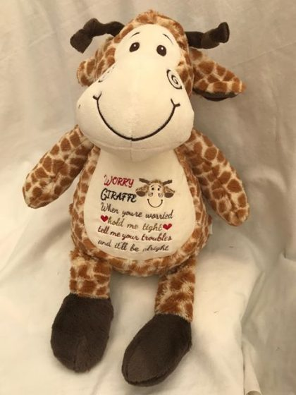 Jeffery Giraffe sewn by Denise Davey