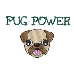 Pug Power Real View - Threaded Scribbles