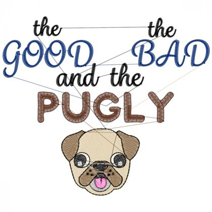 Pugly Stitch View - Threaded Scribbles