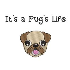 Pug's Life Real View - Threaded Scribbles