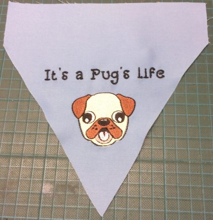 Pug's Life Sew Out - Threaded Scribbles