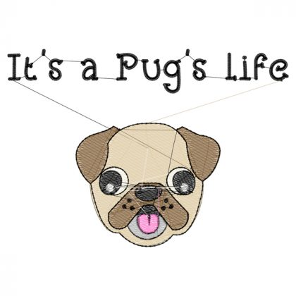 Pug's Life Stitch View - Threaded Scribbles
