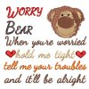 Worry Bear Baxter Real View - Threaded Scribbles