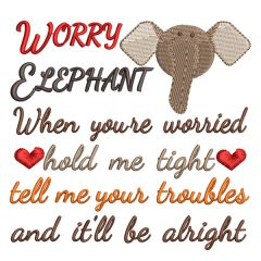 Worry Elephant Real View - Threaded Scribbles