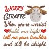 Worry Giraffe Real View - Threaded Scribbles