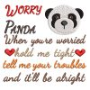 Worry Panda Real View -Threaded Scribbles