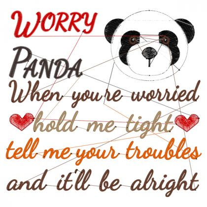 Worry Panda Stitch View - Threaded Scribbles