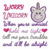 Worry Unicorn Real View - Threaded Scribbles