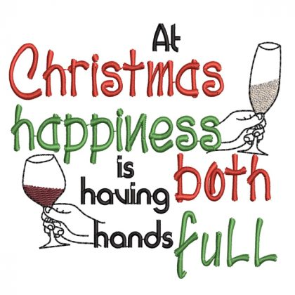 Christmas Hands Full Real View - Threaded Scribbles