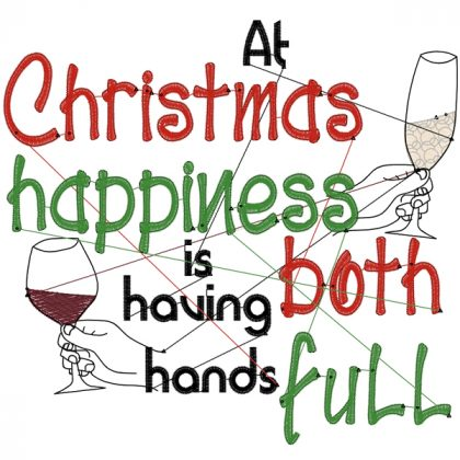 Christmas Hands Full Stitch View - Threaded Scribbles