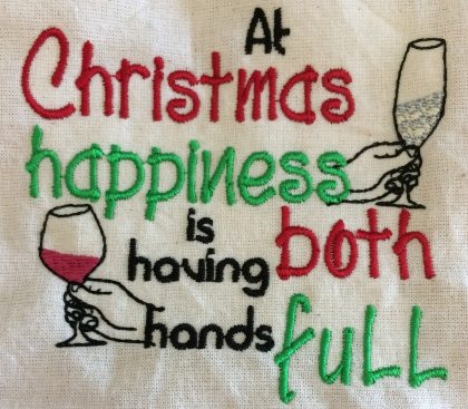 Christmas Hands Full Stitchout - Threaded Scribbles