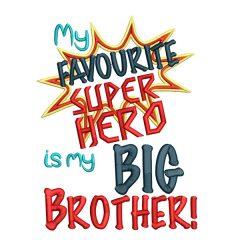 Super Hero Big Brother Real Veiw - Threaded Scribbles