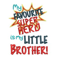 Super Hero Little Brother Real View - Threaded Scribbles