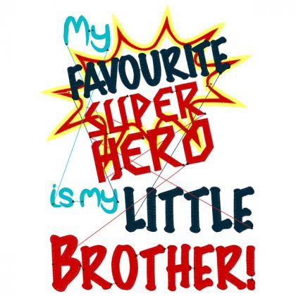 Super Hero Little Brother Stitch View - Threaded Scribbles
