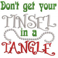 Tinsel Tangle Real View - Threaded Scribbles